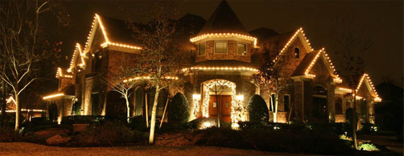 Outdoor Holiday Christmas Lighting Lights Installation