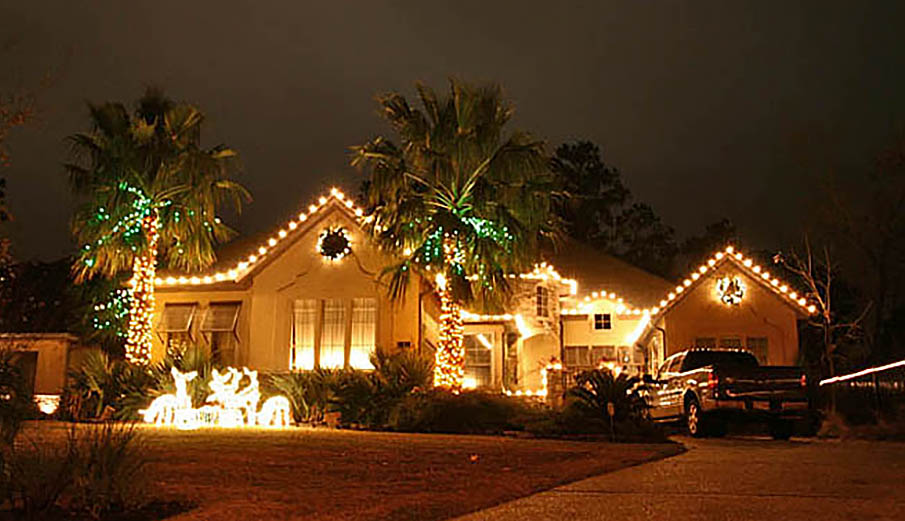 Outdoor Holiday Christmas Lighting Lights Installation